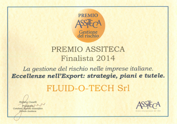 PREMIO ASSITECA 2014: FLUID-O-TECH FINALISTA
