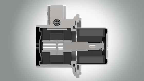 Pompa rotativa a palette a trascinamento magnetico