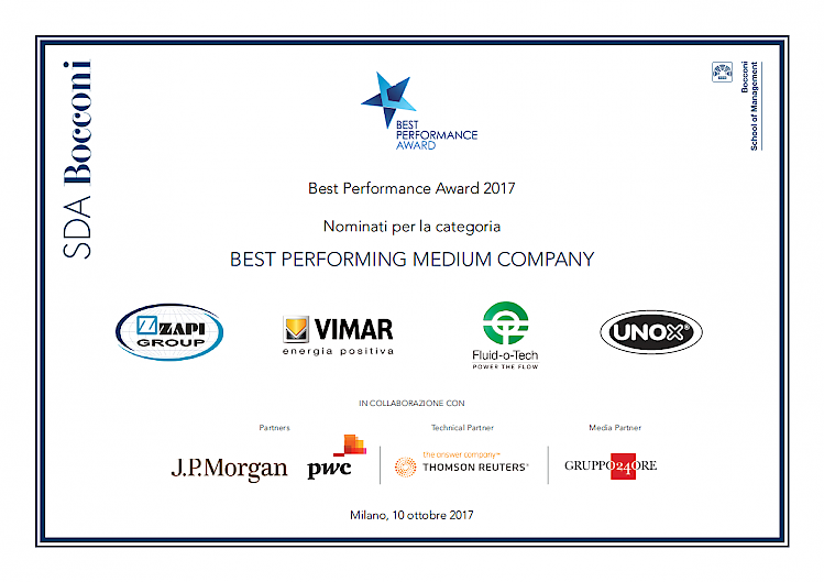 FINALIST BEI BEST PERFORMANCE AWARD
